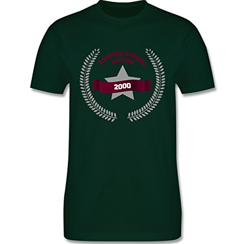 Geburtstag - 2000 limited special edition - Herren Premium T-Shirt Dunkelgrün