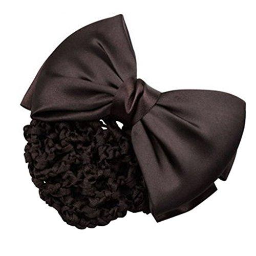 3pcs Bow Tie barette cheveux clip Snood Net coiffure pour les femmes, C