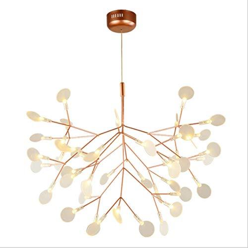 WSXXN Firefly Lichter, Nordic schöne 45 Köpfe Kronleuchter Pendelleuchte modernen minimalistischen Stil für Wohnzimmer Restaurant Schlafzimmer Hotel Designer Hängelampe (Farbe : Warmes Licht) -