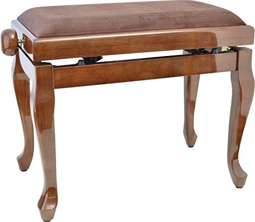 Bein Nuss (Steinbach Klavierbank in Nuss poliert mit Chippendale Beinen updn)