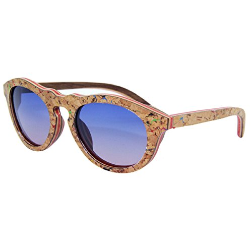 Bambus Gläser Korken Sonnenbrillen Mode Retro Sonnenbrillen,C1