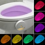 Lusaf Toilette Lampe LED Nachlichter Badezimmer Nachtlicht Toilette Nachtlicht WC Nachtlicht...