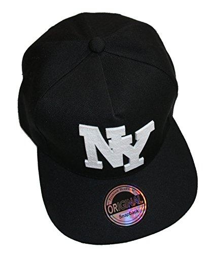 Imagen de premium headwear   ajustable, unisex, diseño «ny», negro, talla aprox. 52 60 cm