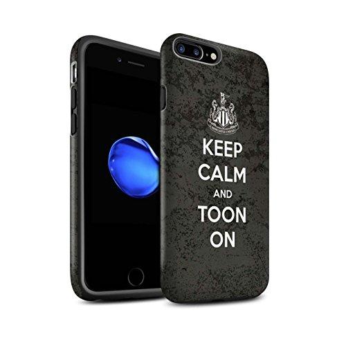 Officiel Newcastle United FC Coque / Matte Robuste Antichoc Etui pour Apple iPhone 7 Plus / Soutien Design / NUFC Keep Calm Collection Toon Sur