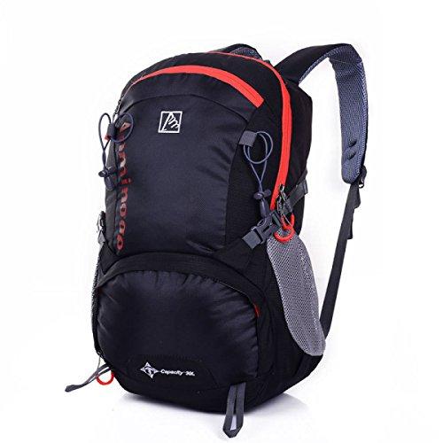 LQABW Nuovi Uomini E Donne Viaggio Escursionismo Zaino Outdoor Sportsbag Student Studentbag 30L,Black Black