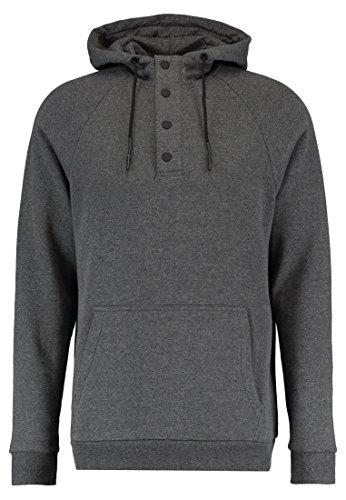 Yourturn Hoodie Herren Anthrazit Grau - Sweatshirt mit Kapuze & Tasche, XS (Polo Ralph Lauren-männer Knopf)