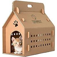 Casa para gatos | Tabla para rascar para gatos | casa para gatos de cartón ondulado | cartón | gato | tumbona para gatos