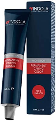 Indola Profession Permanent Caring Hair Color - 6.66X Dark Blonde Extra Red, 60 ml