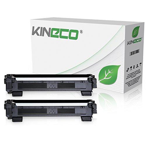 Kineco 2 Toner kompatibel für Brother TN1050 TN-1050 für Brother DCP-1512, HL-1112, DCP-1510, HL-1110 R, MFC-1810, MFC-1815 - Schwarz je 1.500 Seiten