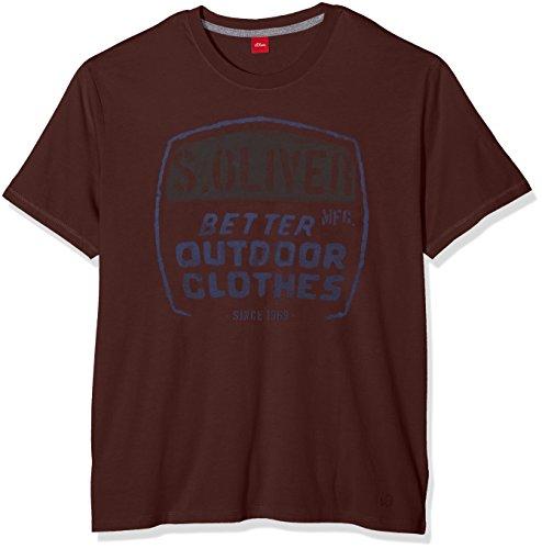 s.Oliver Herren T-Shirt 15.608.32.8300, Rot (Brunello 3989), XXX-Large