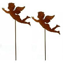 Gartenstecker Weihnachten.Weihnachtsdekoration Pflanzenstecker Engel Aus Metall Gartenstecker