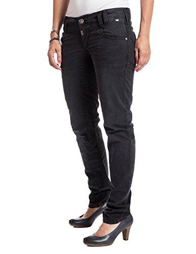 Timezone Damen Relaxed Hose FrankaTZ 3D comfort pants Schwarz (caviar black 9151)