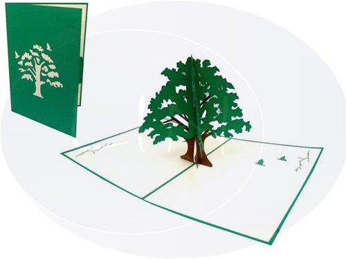LIN-POP UP Grußkarten Glückwunschkarten Dankeskarten Gute Besserung Geburtstagskarten Muttertagskarten, Baum