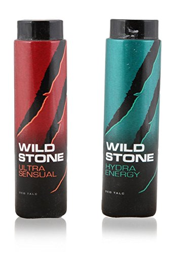 Wild Stone Ultra Sensual & Hydra Energy Talcum Powder 100g - Pack of 2