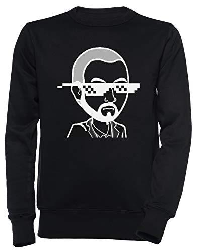Erido MudRacing Sonnenbrille - Mudracing Unisex Herren Damen Jumper Sweatshirt Pullover Schwarz Größe XXL Men's Women's Jumper Black XX-Large Size XXL
