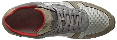Cycleur De Luxe Dallas, Sneakers Hautes Homme Gris (LIGHT GREY + SCARLET + HAZY TAUPE + OFF WHITE)