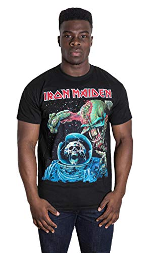 Iron Maiden Final Frontier Steve Harris Rock Ufficiale Uomo Maglietta Unisex (Medium)