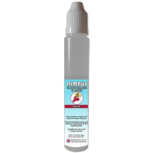 30ml Grape E Liquid 80/20 Cloud Chaser Vape Juice Sub Ohm Juice Vape Liquid 0mg eJuice E Cigarette Liquid Ecig eJuice (Nimbus E Liquid)