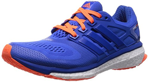 adidas Energy Boost ESM Herren Laufschuhe, Blau (Blue/Blue/Solar Orange), 43 1/3 EU ( 9 UK )