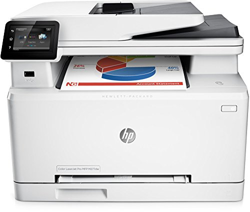 HP Color LaserJet Pro M277dw Farblaserdrucker Multifunktionsgerät (Drucker, Scanner, Kopierer, Fax, WLAN, LAN, Duplex, HP ePrint, Airprint USB, 600 x 600 dpi) weiß (Laser Mit All Drucker One In Fax)