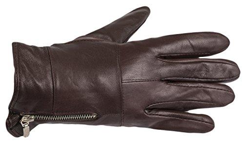 guanti corti da donna in vera pelle Plum - Ladies Gloves Taglia u