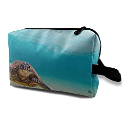 Underwater Scuba Diving Sea Turtle Nature Animal Travel Toiletries Bag Sturdy Organizer Cosmetic Handbag for Women Men Portable