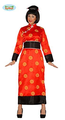 Kimono China rotes Damen Kostüm Tunika Gewand in Gr. M - L, Größe:L (Traditionelle Kostüme Aus Deutschland)