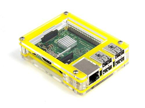 C4Labs Zebra Case-Raspberry Pi 2und B + (Tropical Gelb)