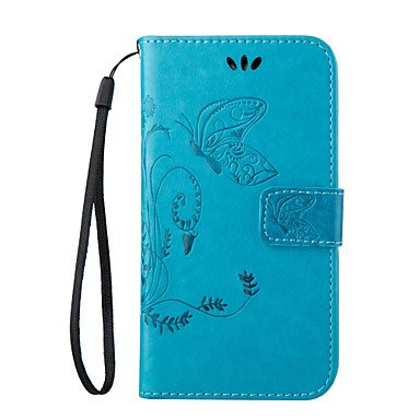 Basic Cellphone Cases Schutzhüllen, Shine Your Phone Embossing Sling Flip Cover Wallet Tasche für Galaxy (Farbe : Leicht Blau, Kompatible Modellen : Galaxy J3) -