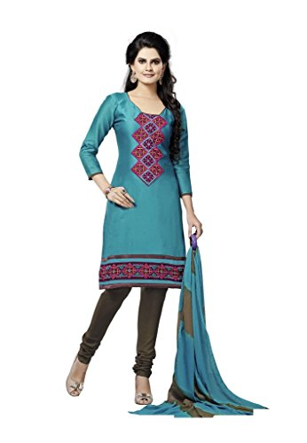 Readymade Minu Suits Cotton Stitched Dress Material New Green
