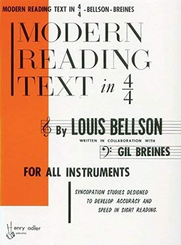 Modern Reading Text in 4/4 For All Instruments by Bellson, Louis unknown Edition [Paperback(1985)]