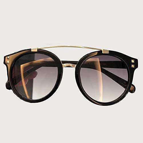 LKVNHP Neue runde Sonnenbrille für Frauen markendesigner doppel brücke hohe qualität mit verpackung Box Retro Mode Eyewear No6 Sonnenbrille No2 Sonnenbrille