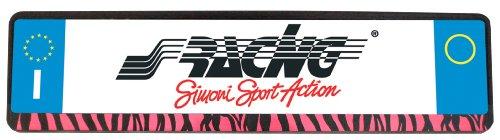 Preisvergleich Produktbild Simoni Racing PTX/5Z Kennzeichenhalter Universal hinten, Pink Zebra