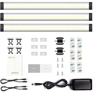 LED Unterbauleuchte,Schrankbeleuchtung,Schrankleuchte, LED Lichtleiste, Nachtlicht Schranklicht 12W, Kabinett…