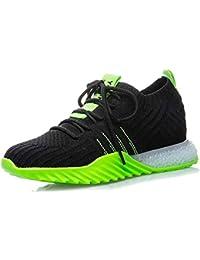 best service 1d5a3 72548 Mzq-yq Calzini Elastici delle Donne Scarpe, Running Sneakers Sport Scarpe  Scarpe Leggero e Confortevole Verde, Arancione Taglia 35…