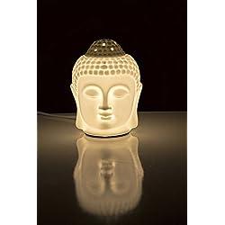 AuraDecor eléctrica quemador de aceite Buda blanco