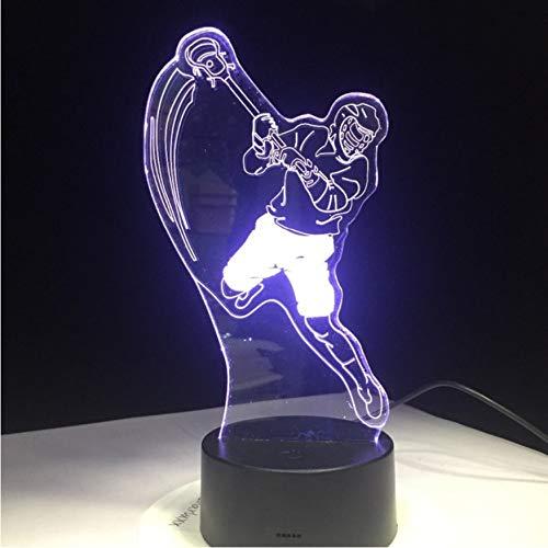 Eishockey Sport Modellierung 3D Tischlampe 7 Farben Ändern LED Nachtlicht USB Schlafzimmer Schlaf Beleuchtung Sport Fans Geschenk Wohnkultur