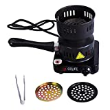CCLIFE Accenditore elettrico per carbone ShiSha a basso consumo (450 W), Colore:Nero