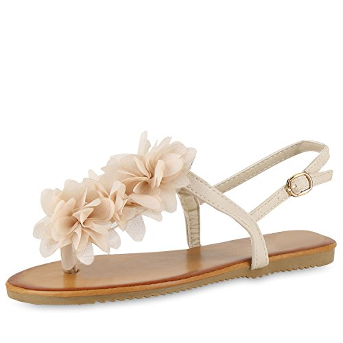 Sandalen Schuhe NEU Damen Zehentrenner  9090 Schwarz 36