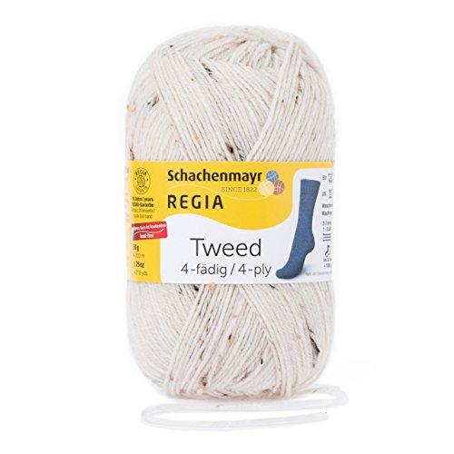 REGIA 4-fädig Tweed 9801271-00002 natur tweed Handstrickgarn, Sockengarn, 50g Knäuel -