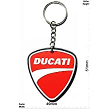 Llaveros - Keychains - Ducati - logo - black - Motocross - Motorcycle - Motorbike - Car - Key Ring - Kautschuk Rrubber Keyring - perfect also bags, wallets or briefcase - Give away