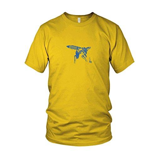 Metal Gear Ray - Herren T-Shirt, Größe: XXL, Farbe: gelb