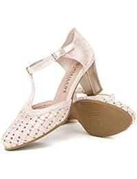 Gilda, Zapatos de Tacón con Punta Abierta para Mujer, Negro (Nero 00), 36 EU Fornarina