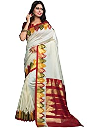 Craftsvilla Silk Saree With Blouse Piece (MCRAF36072941160_White_Free Size)