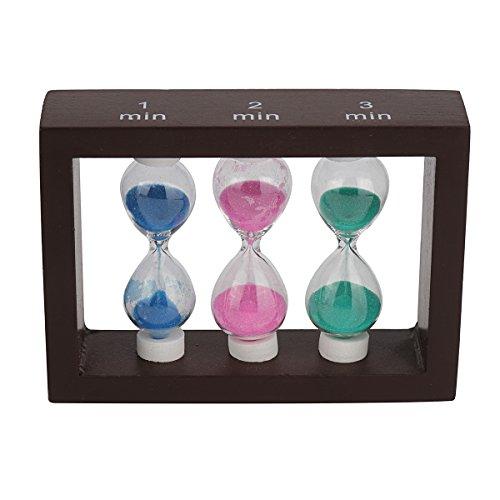 Multicolor Sablier minuteur - Wood minuterie de sable pour les enfants à la maison et à l'école, horloge de sable Sablier minuteur Lot 15.5x8cm 5min