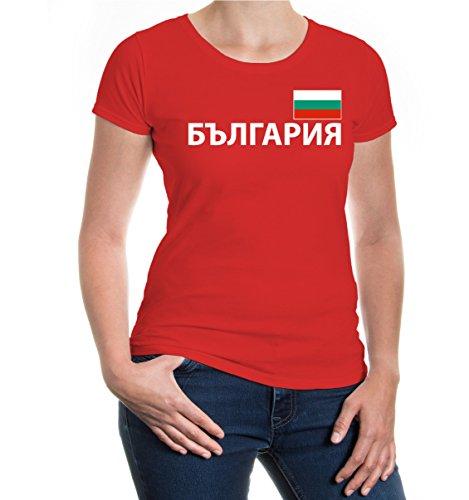 buXsbaum® Girlie T-Shirt Bulgarien Red-