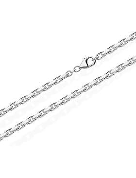 NKlaus Massive Ankerkette Collier 925 Silberkette Diamantiert 3,00mm breit