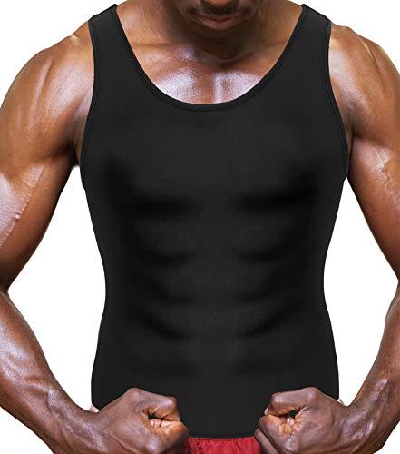 2a63fbe07b Bafully Fitness Tank Top Gym Sweat Vest for Men Weight Loss Waist Trainer  Neoprene Slim Shirt