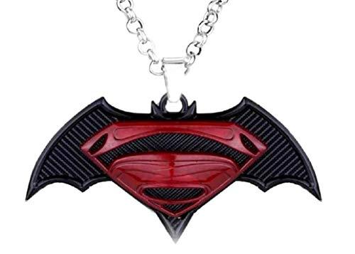 Lovelegis Halskette - Superhelden - Film - Rot - Schwarz - Symbol - bunt - groß - exzellente Qualität - Zubehör - Verkleidung - Karneval - Geschenkidee - Cosplay - Superman - Halloween - Geburtstag