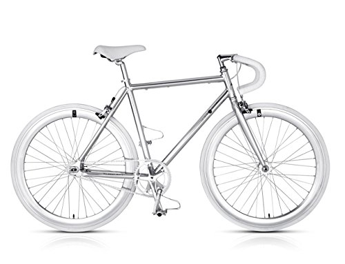 MBM Metal, Bicicletta Minimale Uomo, Argento A24, 56